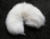 White Blue Fox Fluffy Long Fur Wolf Dog Tail Inumimi Kitsune Cosplay Furry Goth Fantasy Costume LARP Pet Play