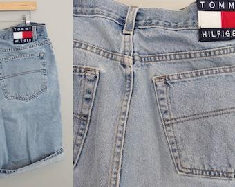 80s Tommy Hilfiger High Waisted Shorts Tommy Denim Jean Shorts  Waist 40