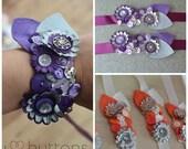 Handmade Wedding Button Wrist Corsage