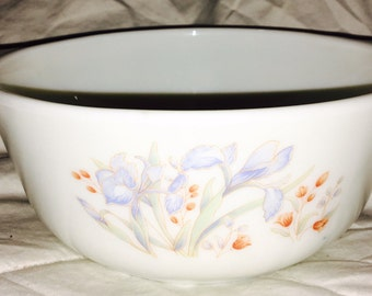 English Pyrex - Blue Iris - Lovely Small Casserole Dish