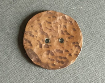 Copper Penny Button - Free Shipping