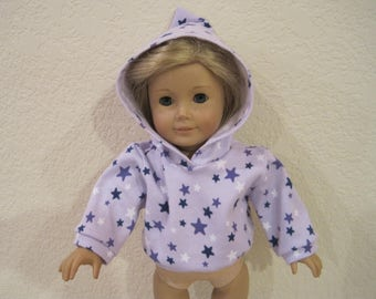 """18"""" Doll  hoodie  clothes to fit American Girl Dolls"""
