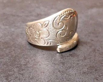 A Vintage Silver Rodd EPNS Hand Made Spoon Ring