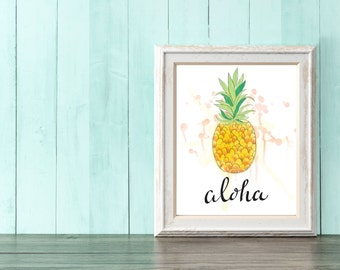 Aloha!  Pineapple Wall Art