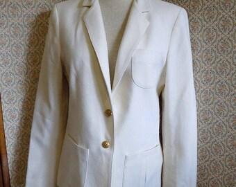 Vintage 1960's White Wool Bobbie Brooks Jacket