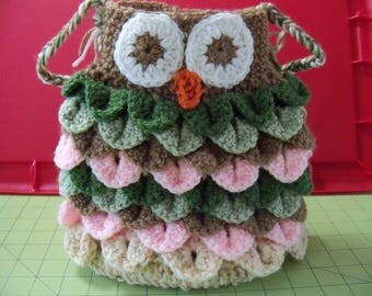 Owl! Crocheted Purse