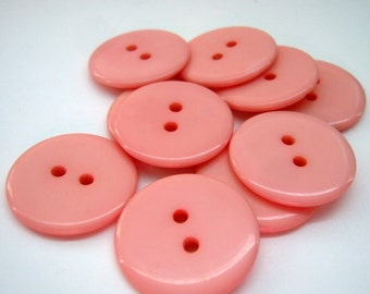 20 Plastic Salmon Two Hole Buttons 23mm, Sewing, Crafts
