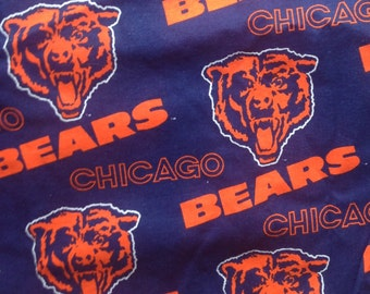 Chicago Bears Fabric in Blue and Orange . NFL Sports Da bears Ditka