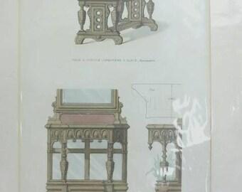 Le Garde-Meuble Handoloured lithograph 1860 Guilmard 1485958683CEH
