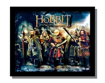 The Hobbit - 3D Illustration Sculpture - 8x10x3 shadowbox framed