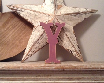 Painted Wooden Letter - Letter Y - Circus Font - 40cm high, 16 inch, any colour, wall letter, wall decor, 18mm
