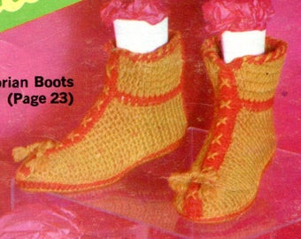 1960's Victorian Lady's Boots Crochet Instant Download PDF Pattern