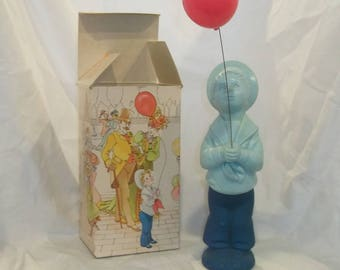 Vintage Avon Fly-A-Balloon with Original Box, boy with Balloon, Cologne Bottle, Decanter, Moonwind, Blue Boy, Red Balloon