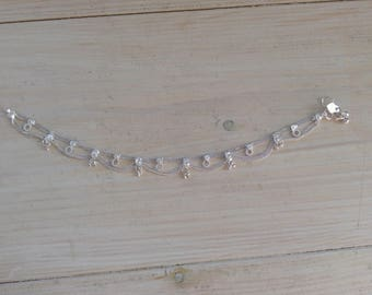 Big Indian lace anklet with circles