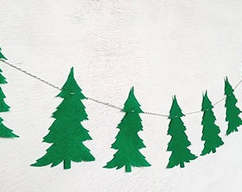 Felt Christmas Tree Banner Garland
