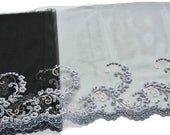 Blue Grey, Black Lace Trim, Slate Blue Floral Trim, Lingerie, Historical  Costumes, Corset, Black Lace Accessories, Lace Fashions