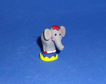 Polymer Clay Tiny Circus Elephant