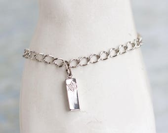 Star of David Bracelet - Sterling Silver Chain and Pendant