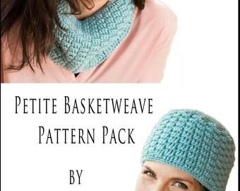 Crochet Pattern ~ Petite Basketweave Pattern Pack ~ Crochet Pattern