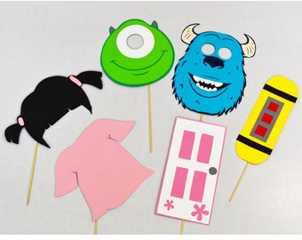 Monsters inc party props , photobooth props