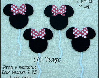 Die Cut Minnie Mouse Disney Balloons Scrapbook Page Embellishment Paper Piecing Mickey Mouse