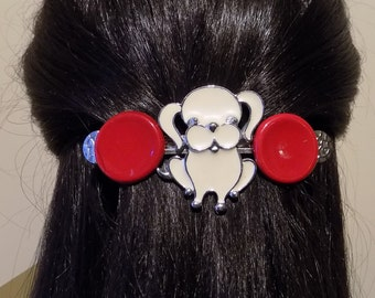 Large  Barrette For Thick Hair/  Womens Gift /dog lover barrette