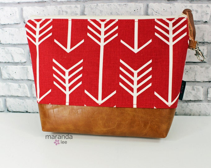 AVA Clutch -Large - Red Arrows   READY to SHIp