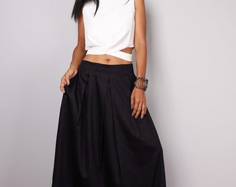 Black skirt - Long skirt - Floor length black maxi skirt : Feel Good Collection No.3