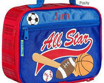 Personalized Lunch Box Bag Stephen Joseph, kids lunch box, Allstar NEW