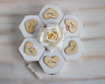 White personalized bridesmaids gift box Will you be my bridesmaid box Proposal box Maid of honour Asking bridesmaid Gift box Wedding  box