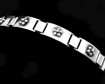 Vintage Eiler & Marloe Denmark Danish Sterling Silver Bracelet 22811