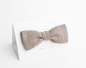 Brown bow tie, chambray bow tie, MADE TO ORDER