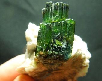 Green Tourmaline w/ Mica