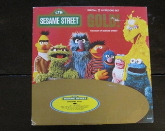 Vintage Record-Sesame Street Gold!-The Best of Sesame Street-Jim Henson-Muppets