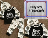 Baby Bear Outfit/Baby Boy Outfit/Hunting Tee/Bear Tee/Original Baby Boy Outift/Baby Bear outfit/Hunting Buddy/Little man tee/Baby Bear shirt