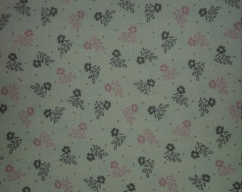 Strawberries, blueberries, and chocolate by Judie Rothermel for Marcus fabrics pink brown little flowers on cream background