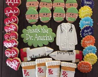 Thank you DOCTOR Sugar Cookies LARGE