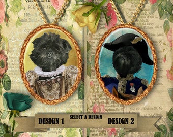 Affenpinscher - Jewelry - Pendant - Brooch – Dog Jewelry - Dog Jewellery – Dog Pendant – Dog Brooch - Handcrafted Porcelain By Nobility Dogs