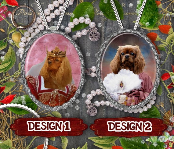 Cavalier King Charles Spaniel Jewelry Pendant or Brooch, Dog Handmade Jewelry, Handcrafted Porcelain, Custom Dog Jewelry By Nobility Dogs