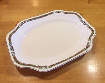 Vintage Steubenville Ivory serving platter, 30s Steubenville, 40s Steubenville, vintage china