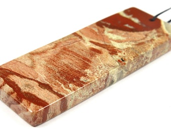 Australian Red Snake Skin Jasper Rectangle Pendant - 60mm x 23mm x 5mm - B5759