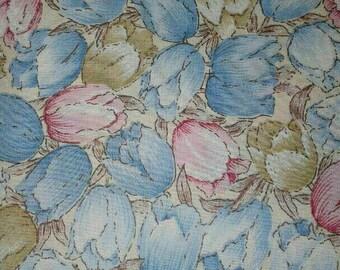 Vintage Tulip Fabric Vintage Fabric