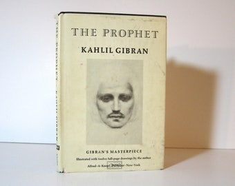 Kahlil Gibran, The Prophet, with 12 Illustrations by Gibran, Published 1973 by Alfred A. Knopf Inspirational Classic Vintage Poetry Book