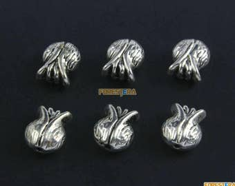 50Pcs Antique Silver Onion Bracelet Bead Onion Chain Bead Onion Bead 11x9mm (PND1492)