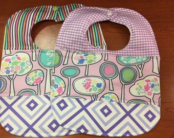 Quilted Cotton Baby Bibs