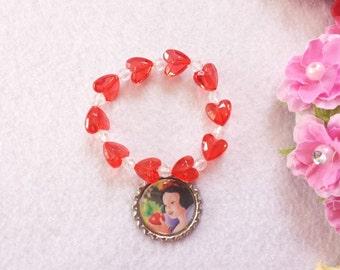 10 Snow White Bracelets Party Favors