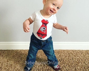 New England Patriots Boys Bodysuit or Toddler Shirt