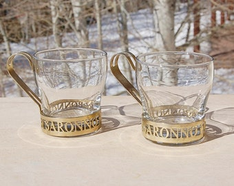 Vintage DI Saronno Cups Mugs Amaretto Barware  Set of 2