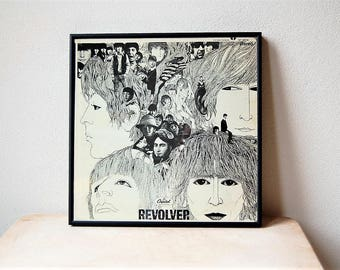 Framed Beatles Revolver Album ST 2576 Klaus Voorman