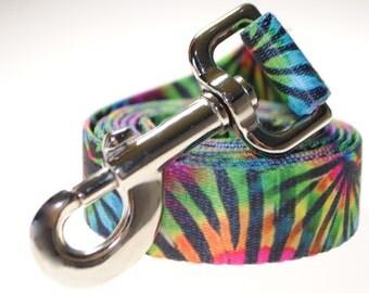 """Tie-Dye 1"""" Width  Leash"""